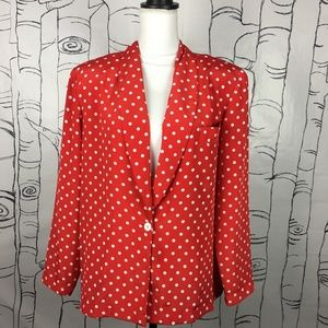 Vintage Worthington 16 Red Polka-Dot Blazer Coat